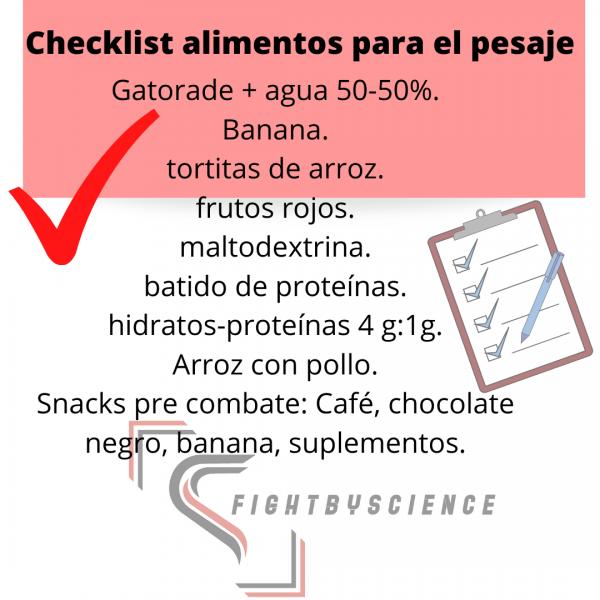 Checklist Alimentos Para El Pesaje